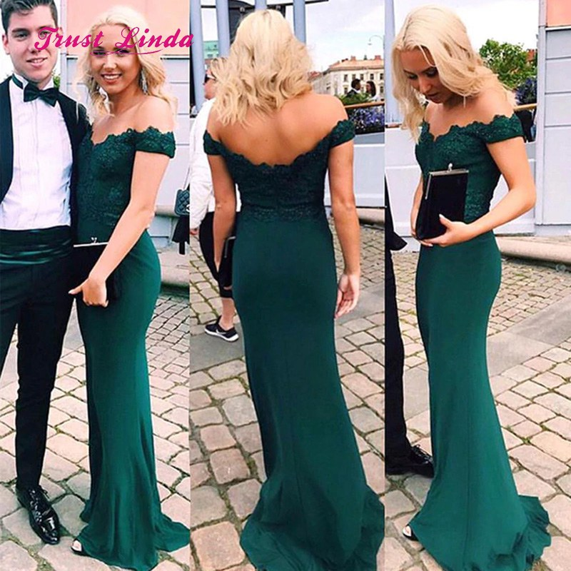 Vestiti Eleganti Donna Per Cerimonia.Green Dress Wedding Guest V Neck Off The Shoudler Mermaid Women