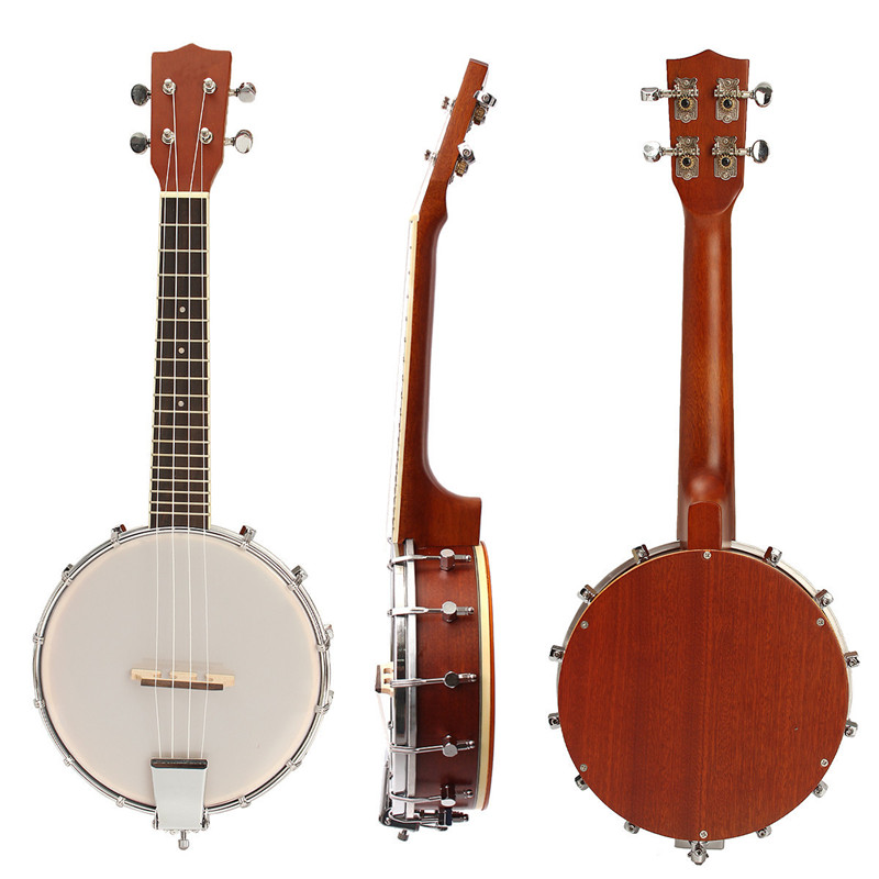Zebra 23'' Sapele Nylon 4 Strings Concert Banjo Ukulele Uke Bass Guitar Guitarra For Musical Stringed Instruments Lover Gift magnum live in concert