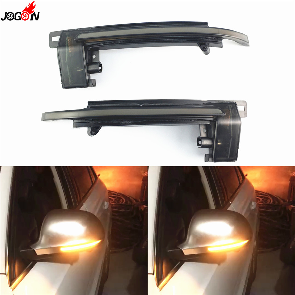 LED Side Mirror Indicator Blinker Light Dynamic Turn Signal For Audi A3 S3 8P A4 B8
