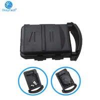 OkeyTech Key Shell For Vauxhall Opel Corsa C Combo Tigra Meriva Agila Combo Key Fob Cover Case Holder 2 Button with Battery Clip