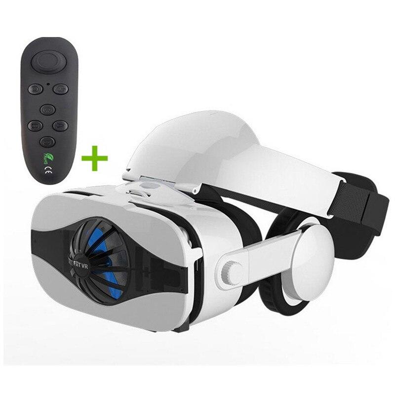 Óculos de realidade virtual 3d vr óculos caixa fone de ouvido visor olho trave joystick para o telefone google papelão para galaxy s9