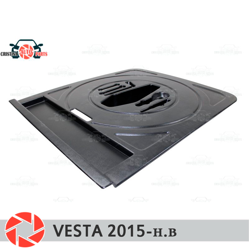 For Lada Vesta 2015- organizer top position in trunk compartment wheel protection cover car styling accessories guard cnc aluminum motorcycle accessories front sprocket cover chain guard cover left side engine for yamaha yzf r3 r25 2014 2015 2016