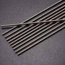 Nova barra redonda de titânio gr.5, barra redonda ti de solda, 2mm de diâmetro de resistência à corrosão, 10 peças