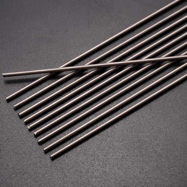 Tiges de soudage en titane Grade 5, 10 pièces, Gr.5, 6al 4v, barre ronde, Ti, 2mm de diamètre, résistance à la Corrosion
