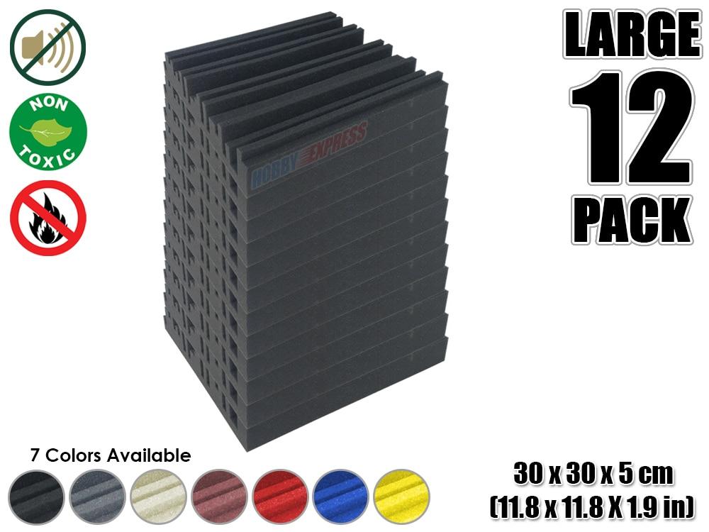 Arrowzoom 12 pieces Metro Diffuser Acoustic Studio Foam Tile Sound Absorption Panel 30 x 30 x