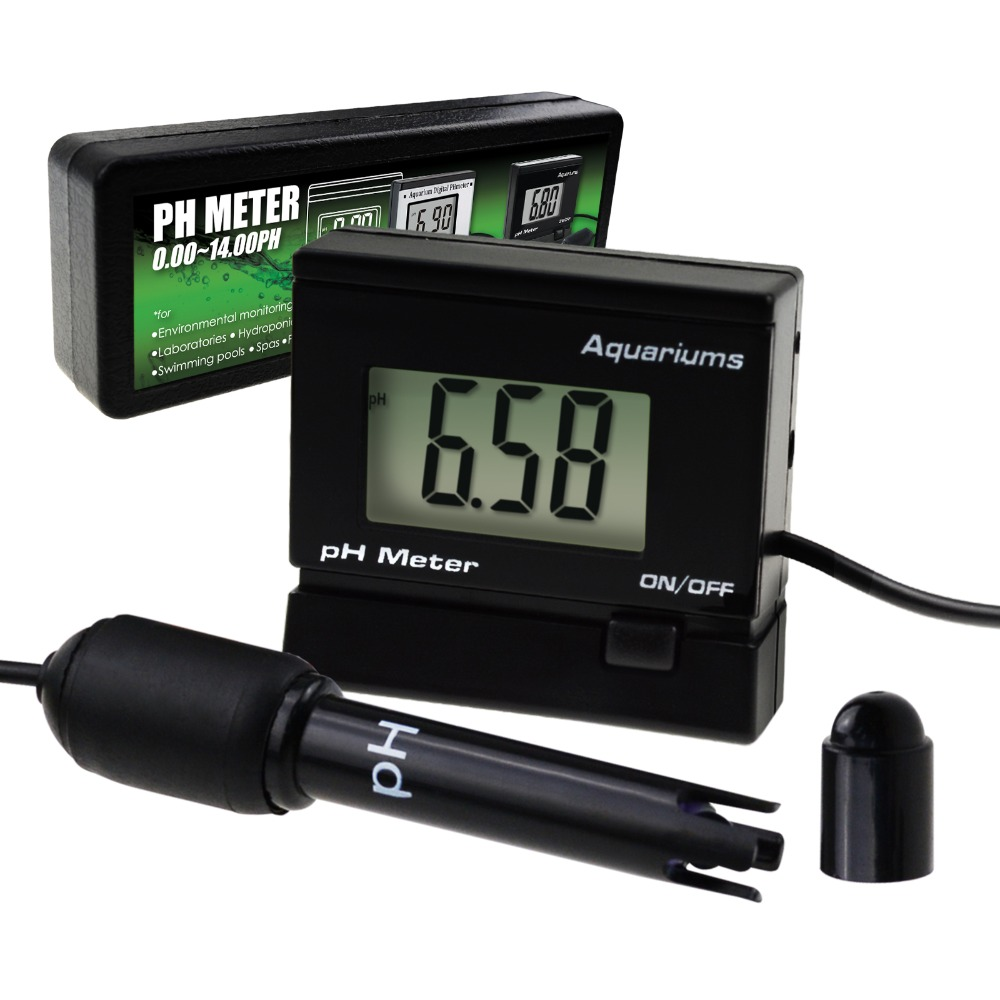 Digital pH Monitor Meter ATC 0~14.00pH Replaceable Electrode Probe BNC Water Quality Monitoring Tester Kit Aquarium Hydroponics
