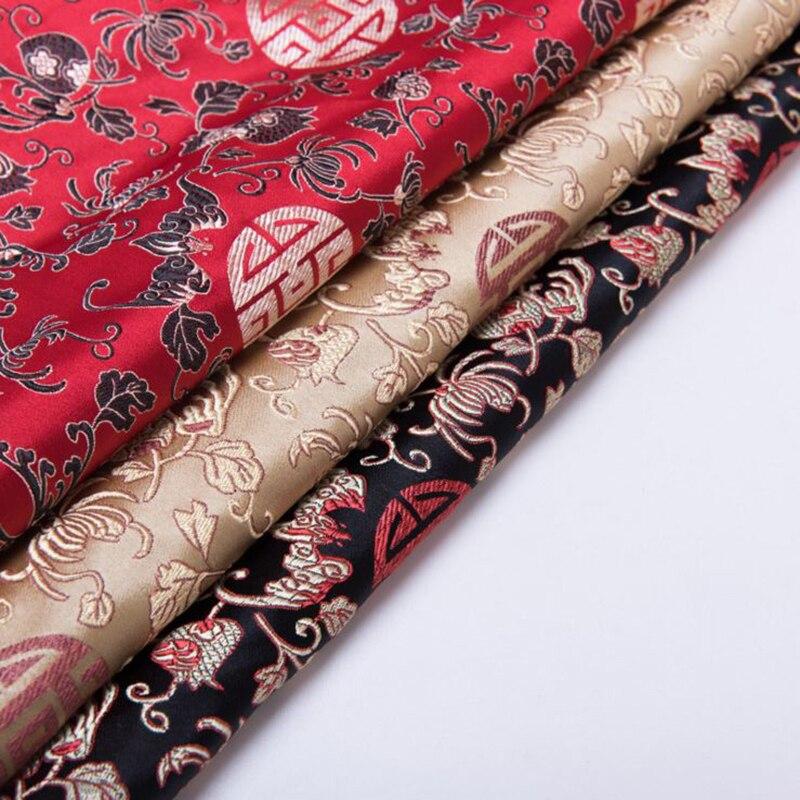 new arrival brocade Pomegranate flower fabric for patchwork felt tissue telas dress bed sheet children cloth coat 100x75cm