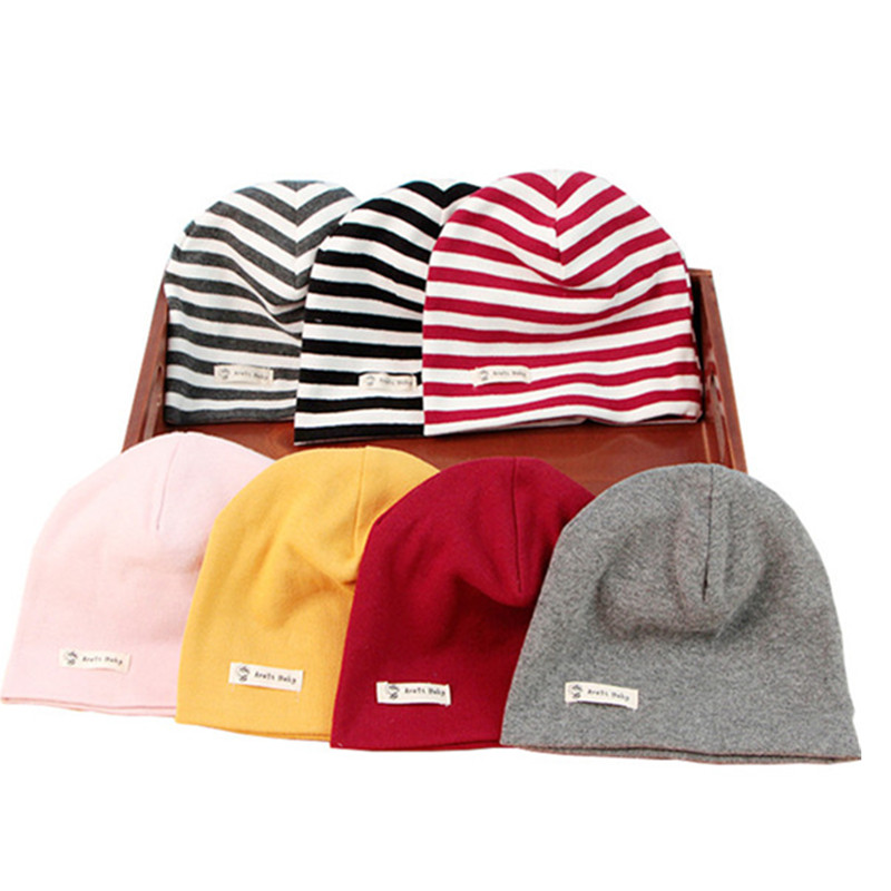 77f8d24d0ce8d6 Children's hats autumn winter Baby's cotton solid-colored Knit cotton top  cap boys girls kids head wear beanies accessories ~ Super Deal July 2019