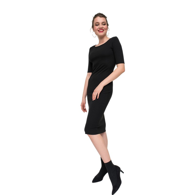 Dresses dress befree for female  short sleeve women clothes apparel  casual spring 1811478585-50 TmallFS fashion pure color short sleeve bodycon dress
