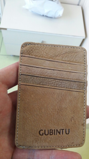 Genuine Leather Mini Slim Cash Women Men Holder Clamp For Money Clip I Male Female Wallet Purse With Card Bill Thin Coins Pocket photo review