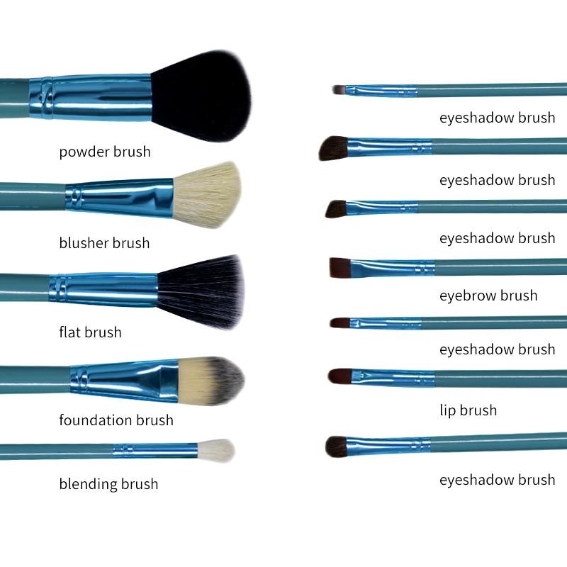 Princess Rose 12st Make Up Brush Set Makeup Brushes Kit Pinceis - Smink - Foto 2