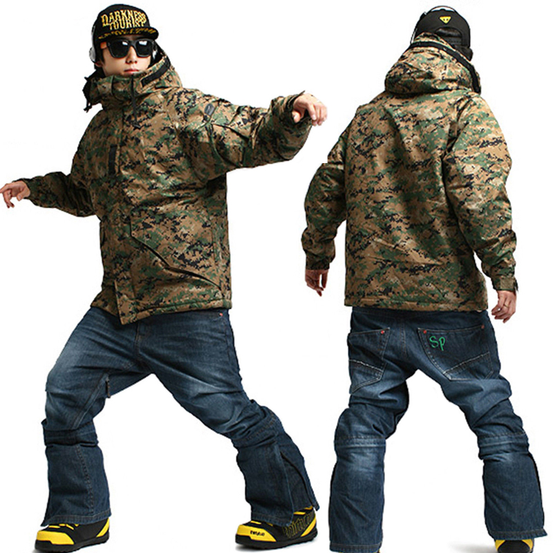 a01beefded42f Clothing Pants South Play Ski Snowboard Wear Suit Parka Jacket+Pants  Trousers SET CAMO