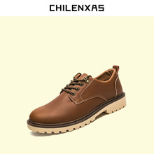 CHILENXAS 2017 Spring Autumn Large Size 38-46 Trendy Genuine Leather Shoes Men Soft Casual New Fashion Breathable Waterproof