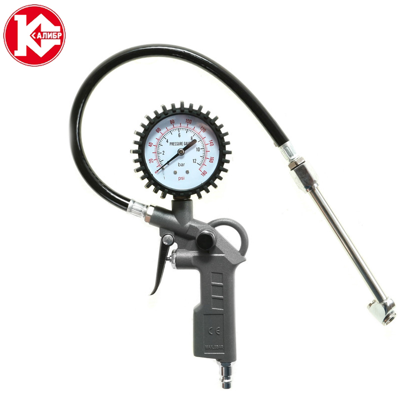 Kalibr PPSH-6.0/100P Tire Pressure Gauge Air Inflator Gun Inflated Pumps Deflated Tire Repair Tools Pressure Gun high precision car led digital tire pressure gauge digital display tire pressure gauge meter car dedicated tire pressure