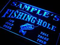 Qx Tm Name Personalized Custom Fly Fishing Hole Den Bar Beer Gift Neon Sign
