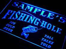 Qx-тм Имя персонализированные пользовательские Fly Fishing отверстия ден бар Пивной подарков неоновая вывеска с включения/выключения 7 цветов 4 размера