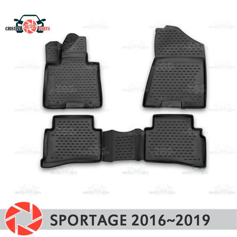 Tapis de sol pour Kia Sportage 2016 ~ 2019 tapis antidérapant polyuréthane protection contre la saleté accessoires de style de voiture intérieure