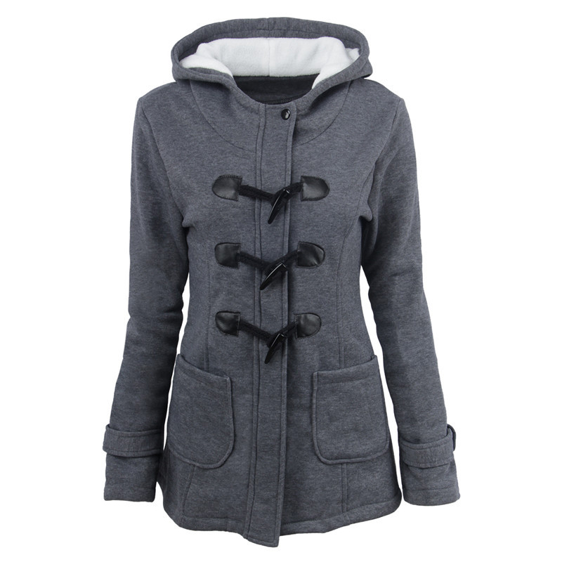 Autumn Women   Basic     Jacket   Plus Size Casual Cotton Slim Coat Clothes Female Warm Windproof Windbreaker Long Sleeve Hooded Coats