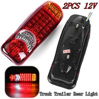 1 Pair 12V LED Truck Rear Lights Car Bus Van Trailer Tail Light Indicator Stop Reverse