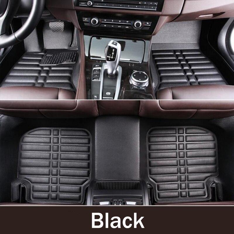 ZHIHUI personalizado esteiras do assoalho do carro para PEUGEOT 206 207 301 308 408 508 2008 3008 4008 5008 auto acessórios tapetes de carro styling