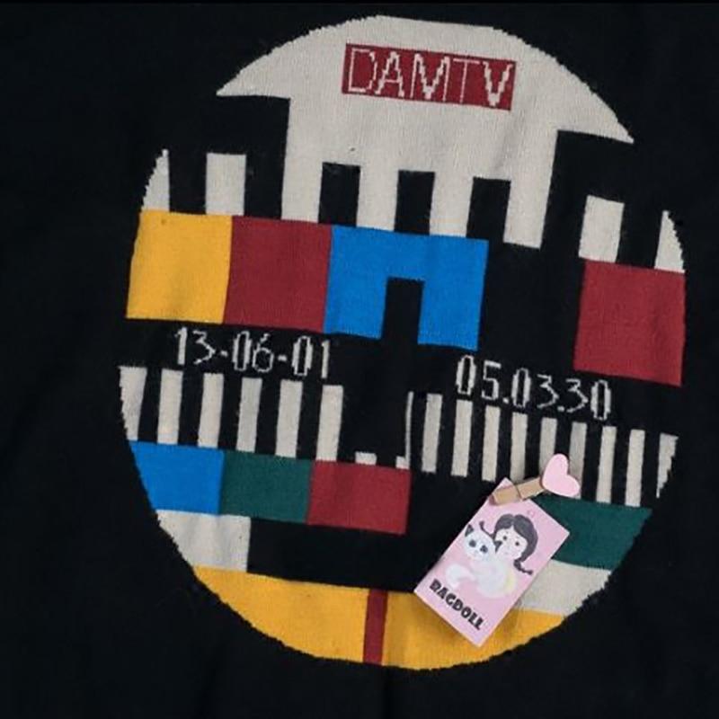 Impresión Black Dibujos Animados clase No Recuerdos Cuello Suave Camiseta Señal camiseta Televisión Ser Amable Tipo Suéter Camisa Tortuga La Infancia Serie Bordado De Mujer T Mujeres FH0c4vcrX