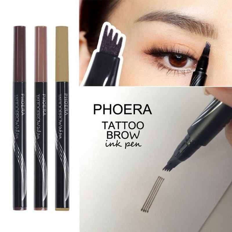 PHOERA High-end Comb Eye Brow Enhancer Makeup Automatic Eyebrow Tattoo Pen Eyebrow Pencil Waterproof Lasting Time Beauty