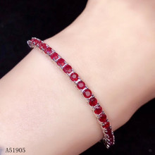KJJEAXCMY boutique jewelry 925 sterling silver inlaid natural ruby female luxury bracelet support detection kjjeaxcmy fine jewelry 925 sterling silver inlaid natural ruby female bracelet beautiful support detection