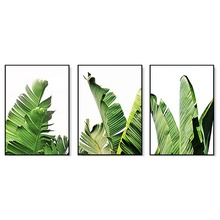 SD LINLEEHON Banana Leaf Canvas Paintings Natural Wall Art Posters Prints Nordic Oil Pictures for Living Room Home Decor