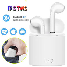 2019 I7S Bluetooth Earphone Tws Mini Double In-Ear Nirkabel Earpiece Sport Earphone Headset Earbud untuk iPhone 8/X Xiaomi(China)