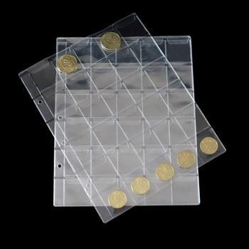 30 Uds nuevo estilo 20/30/42 bolsillos claro monedas sello Protector de monedas Insertar página Hojas titular