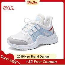 0f854743 Фуцзинь кроссовки Для женщин 2019 Повседневная обувь с сетчатым верхом из  дышащего материала Женская мода кроссовки