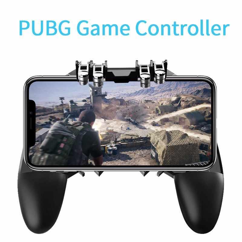 AK66 шесть пальцев PUBG игровой контроллер геймпад металлическая кнопка пуска стрельба бесплатно огонь геймпад джойстик для IOS Android мобильного телефона