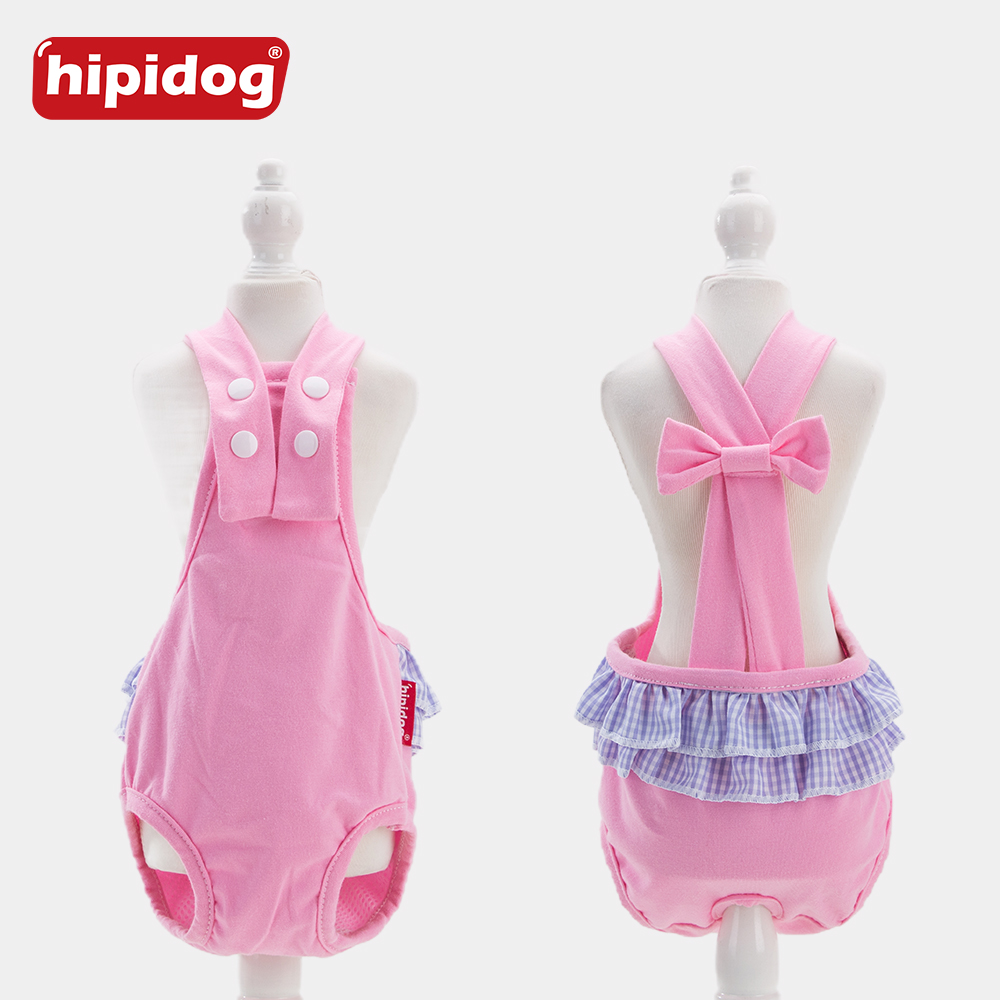 Hipidog Pet Doggies Cats Physiological Solid Pants Cotton Pet Dog Panties Strap Sanitary Dog Underwear Diapers Puppy Shorts in Dog Shorts from Home Garden