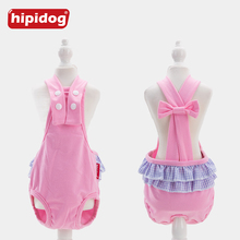 Hipidog Pet Doggies Cats Physiological Solid Pants Cotton Pet Dog Panties Strap Sanitary Dog Underwear Diapers Puppy Shorts busy doggies