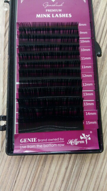 GENIELASH individual eyelash extension make up premium mega volume lash extensions mink individual lashes hybridlashes