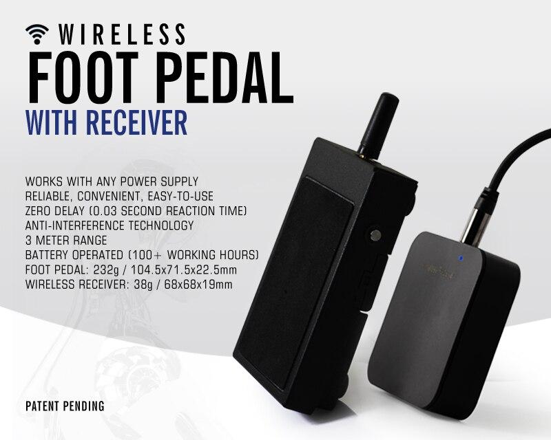 Premium Squre Foot Pedal (wireless)