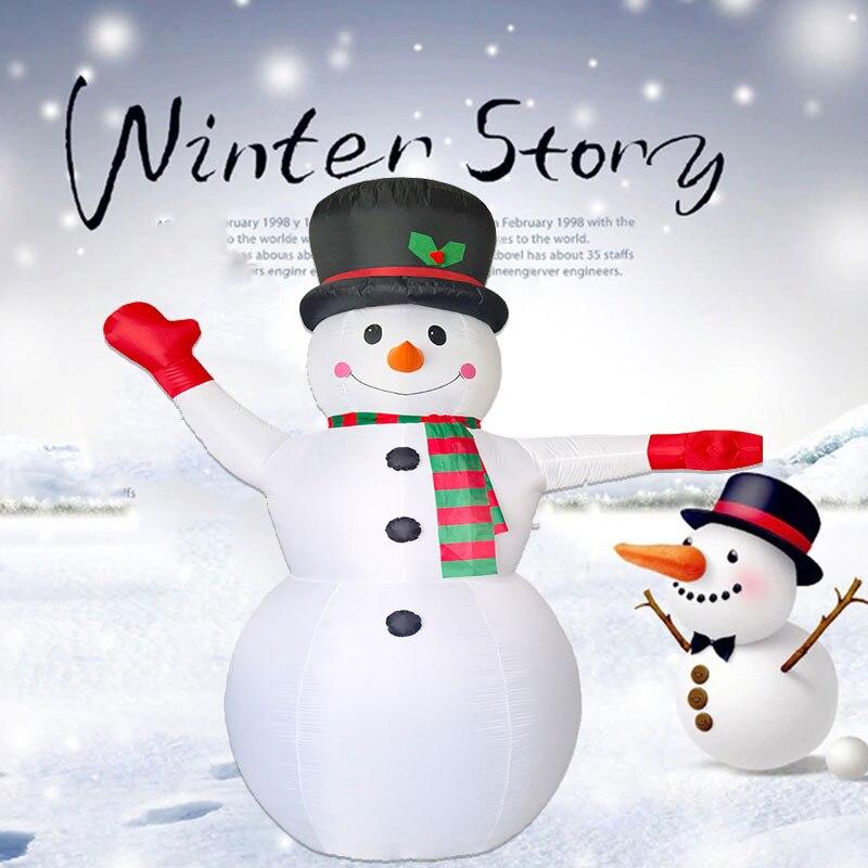 2,4 м Гигантские Надувные Снеговик Blow Up Игрушка Санта Клаус Новогоднее украшение для Отели ужин Рынок развлекательные центры реквизит