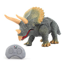 Simulated  Island Jurassic will walk called remote control electric simulation Triceratops boy child dragon model Dinosaur toy