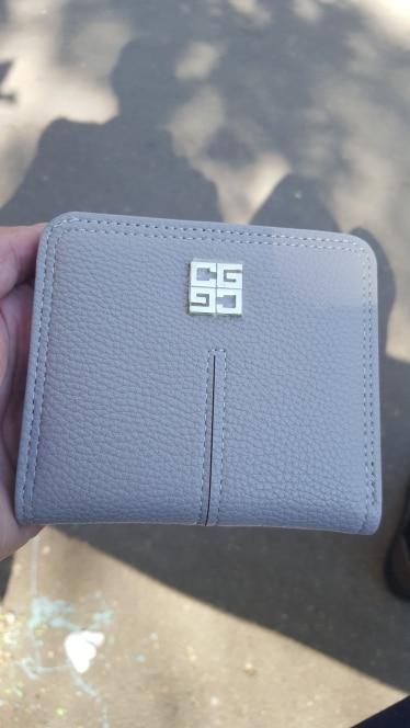 Cute Women Wallets Leather Women Wallet Short Card Holder Zipper Coin Purse Girl Mini Billfold Thin Wallet Small Money Bags photo review