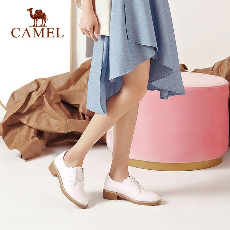 Ayakk.'ten Kadın Pompaları'de DEVE Kadınlar Yeni Moda Rahat tek ayakkabı Kadın Düşük Topuk Yumuşak Hakiki Deri Beyaz Elbise Ayakkabı Bayanlar Için Düşük Konfor Pompaları'da  Grup 3