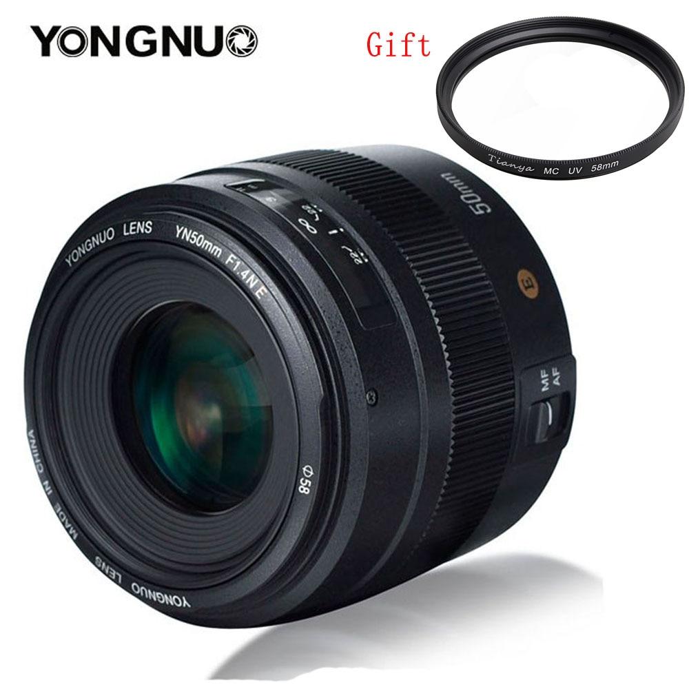 YONGNUO YN50MM 50MM F1.4N F1.4 E Standard Objectif AF/MF pour Nikon D3400 D5300 D7200 D750 D5600 D3200 D7100 D3300 D7200 D850-in Objectifs pour appareil photo from Electronique    1