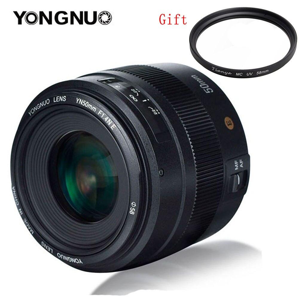 YONGNUO YN50MM 50mm F1.4N F1.4 E Standard Prime Lens AF/MF per Nikon D3400 D5300 D7200 D750 D5600 d3200 D7100 D3300 D7200 D850