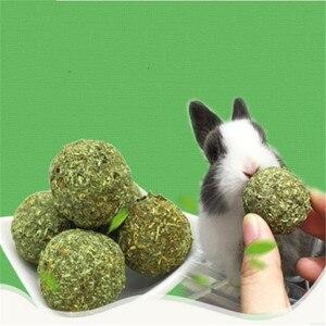 Image 1 - ZHPZPET 2019 Горячая продажа 2 шт Pet зубы шлифовальный шар натуральная трава игрушки для Guniea свинья кролик Шиншилла