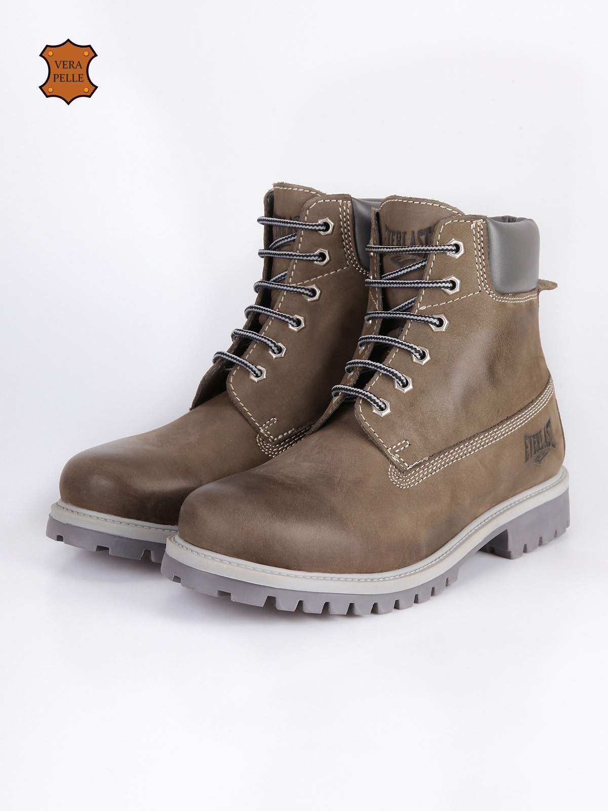 EVER LAST Boots Combat Boots Lace Up Leather