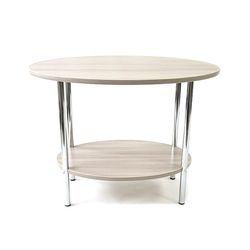 Журнальный столик 45A  овальной формы стол с полкой нужная мебель для дома