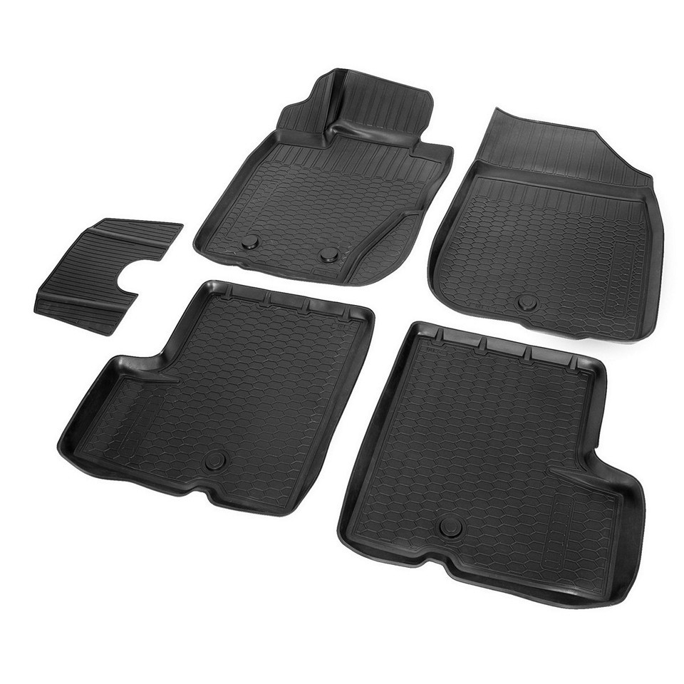 3D floor mats into saloon for Renault Duster 4WD 2010-2014 5 pcs/set (Rival 14701005) for nissan terrano 4wd 2014 2019 rubber floor mats into saloon 5 pcs set rival 64701002