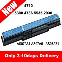 50 SZTUK 6 Komórki 11.1 v 5200 mAh Pojemności Baterii Laptopa do ACER Aspire 4710 5236 5241 5338 5737Z 7715Z