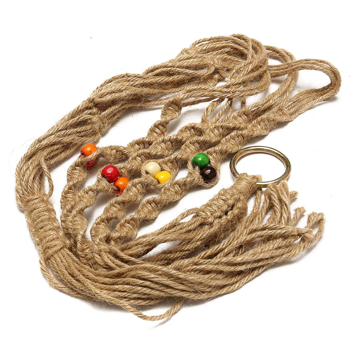 Bloempot Houder String Opknoping Touw Mand Vintage Macrame Planten