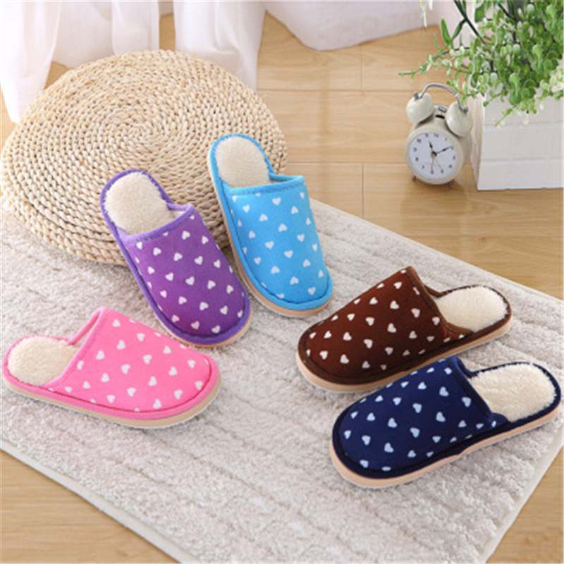 1430 Fashion New Type Of Love Cotton Slippers Comfort Lovers Indoor Towing Antiskid Guest Slippers K