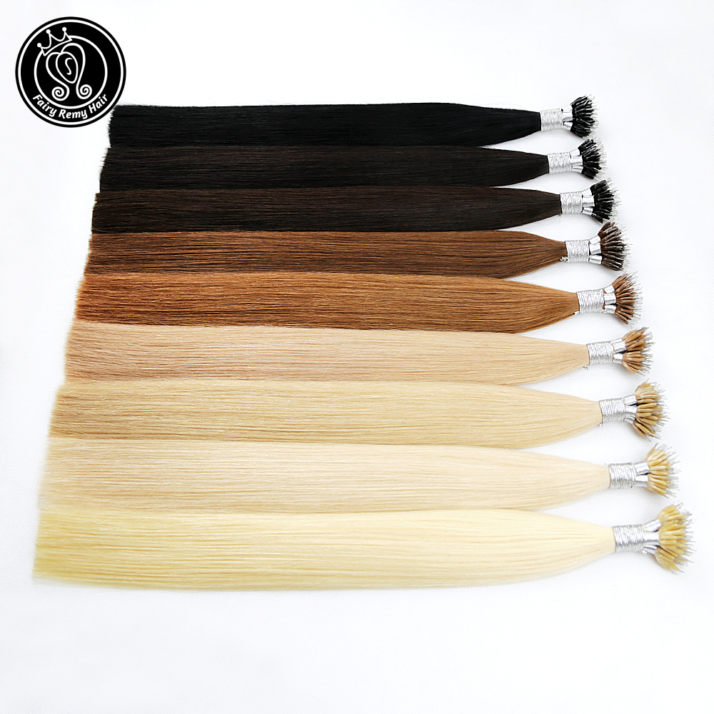 Fairy Remy Hair 1g/s 20 Inch Micro Beads Real Remy Nano Ring Links Human Hair Extensions 50g 100g 150g Blonde Black 37 Colors